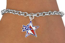 """<bR>               EXCLUSIVELY OURS!!<Br>         AN ALLAN ROBIN DESIGN!!<BR>CLICK HERE TO SEE 120+ EXCITING<BR>   CHANGES THAT YOU CAN MAKE!<BR>   W731SB - """"PATRIOTIC 2-STAR""""<Br>        CHARM & BRACELET FROM<Br>                     $4.50 TO $8.35"""