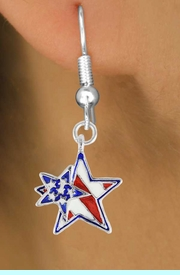 """<bR>               EXCLUSIVELY OURS!!<Br>         AN ALLAN ROBIN DESIGN!!<BR>CLICK HERE TO SEE 120+ EXCITING<BR>   CHANGES THAT YOU CAN MAKE!<BR>    W731SE - """"PATRIOTIC 2-STAR""""<Br>         CHARM & EARRINGS FROM<Br>                      $4.50 TO $8.35"""