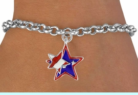 """<bR>               EXCLUSIVELY OURS!!<Br>         AN ALLAN ROBIN DESIGN!!<BR>CLICK HERE TO SEE 120+ EXCITING<BR>   CHANGES THAT YOU CAN MAKE!<BR>   W736SB - """"PATRIOTIC 2-STAR""""<Br>        CHARM & BRACELET FROM<Br>                     $4.50 TO $8.35"""