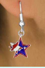 """<bR>               EXCLUSIVELY OURS!!<Br>         AN ALLAN ROBIN DESIGN!!<BR>CLICK HERE TO SEE 120+ EXCITING<BR>   CHANGES THAT YOU CAN MAKE!<BR>    W736SE - """"PATRIOTIC 2-STAR""""<Br>         CHARM & EARRINGS FROM<Br>                      $4.50 TO $8.35"""