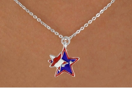 "<bR>               EXCLUSIVELY OURS!!<Br>         AN ALLAN ROBIN DESIGN!!<BR>CLICK HERE TO SEE 120+ EXCITING<BR>   CHANGES THAT YOU CAN MAKE!<BR>   W736SN -  ""PATRIOTIC 2-STAR""<Br>        CHARM & NECKLACE FROM<Br>                     $4.50 TO $8.35"