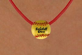 """<BR>              """"EXCLUSIVELY OURS""""<bR>          AN ALLAN ROBIN DESIGN<BR>CLICK HERE TO SEE 265+ EXCITING<BR>  ADDITIONS THAT YOU CAN MAKE!<Br>               LEAD & NICKEL FREE!!<br>       W13710N - """"SOFTBALL DIVA""""<BR>        NECKLACE AS LOW AS $4.50"""