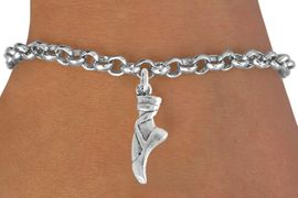 """<bR>                 EXCLUSIVELY OURS!!<Br>           AN ALLAN ROBIN DESIGN!!<BR>  CLICK HERE TO SEE 500+ EXCITING<BR>     CHANGES THAT YOU CAN MAKE!<BR>                LEAD & NICKEL FREE!!<BR>     W745SB - """"BALLET SLIPPER"""" &<Br>     BRACELET FROM $4.50 TO $8.35"""