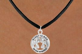<bR>                 EXCLUSIVELY OURS!!<Br>           AN ALLAN ROBIN DESIGN!!<BR>  CLICK HERE TO SEE 500+ EXCITING<BR>     CHANGES THAT YOU CAN MAKE!<BR>                LEAD & NICKEL FREE!!<BR>W758SN - GLORY TO GOD IN THE HIGHEST <BR>     NECKLACE FROM $4.50 TO $8.35