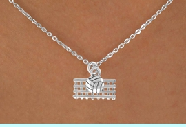 <bR>                 EXCLUSIVELY OURS!!<Br>           AN ALLAN ROBIN DESIGN!!<BR>  CLICK HERE TO SEE 500+ EXCITING<BR>     CHANGES THAT YOU CAN MAKE!<BR>                LEAD & NICKEL FREE!!<BR>  W763SN - VOLLEYBALL AND NET CHARM <BR>          NECKLACE FROM $4.50 TO $8.35