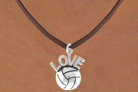 "<bR>                 EXCLUSIVELY OURS!!<Br>           AN ALLAN ROBIN DESIGN!!<BR>  CLICK HERE TO SEE 500+ EXCITING<BR>     CHANGES THAT YOU CAN MAKE!<BR>                LEAD & NICKEL FREE!!<BR>  W764SN - VOLLEYBALL ""LOVE"" CHARM <BR>        NECKLACE FROM $4.50 TO $8.35"
