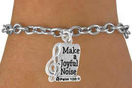 <bR>                    EXCLUSIVELY OURS!!<Br>              AN ALLAN ROBIN DESIGN!!<BR>  CLICK HERE TO SEE 500+ EXCITING<BR>     CHANGES THAT YOU CAN MAKE!<BR>                LEAD & NICKEL FREE!!<BR>       W767SB - MAKE A JOYFUL NOISE CHARM<Br>        BRACELET FROM $4.50 TO $8.35