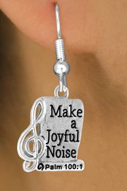 <bR>                    EXCLUSIVELY OURS!!<Br>              AN ALLAN ROBIN DESIGN!!<BR>  CLICK HERE TO SEE 500+ EXCITING<BR>     CHANGES THAT YOU CAN MAKE!<BR>                LEAD & NICKEL FREE!!<BR> W767SE - MAKE A JOYFUL NOISE CHARM <BR>      EARRINGS FROM $4.50 TO $8.35