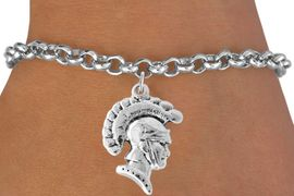 <bR>                    EXCLUSIVELY OURS!!<Br>              AN ALLAN ROBIN DESIGN!!<BR>  CLICK HERE TO SEE 500+ EXCITING<BR>     CHANGES THAT YOU CAN MAKE!<BR>                LEAD & NICKEL FREE!!<BR>                W769SB -TROJAN CHARM<Br>        BRACELET FROM $4.50 TO $8.35