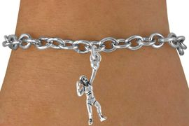 <bR>                    EXCLUSIVELY OURS!!<Br>              AN ALLAN ROBIN DESIGN!!<BR>  CLICK HERE TO SEE 500+ EXCITING<BR>     CHANGES THAT YOU CAN MAKE!<BR>                LEAD & NICKEL FREE!!<BR>W771SB - SERVING VOLLEYBALL PLAYER<Br>        BRACELET FROM $4.50 TO $8.35