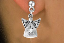 <bR>                 EXCLUSIVELY OURS!!<Br>           AN ALLAN ROBIN DESIGN!!<BR>  CLICK HERE TO SEE 500+ EXCITING<BR>     CHANGES THAT YOU CAN MAKE!<BR>                LEAD & NICKEL FREE!!<BR>      W773SE - CRYSTAL ACCENTED <BR>          ANGEL CHARM EARRINGS  <BR>               FROM $3.85 TO $8.50