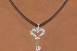 <Br>               EXCLUSIVELY OURS!!<Br>          AN ALLAN ROBIN DESIGN!!<Br>  CLICK HERE TO SEE 500+ EXCITING<BR>     CHANGES THAT YOU CAN MAKE!<BR>                LEAD & NICKEL FREE!!<BR> W774SN - CRYSTAL ACCENTED KEY<BR> TO MY HEART CHARM NECKLACE<BR>                FROM $4.65 TO $8.50