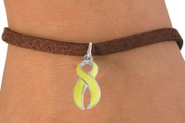 <bR>                 EXCLUSIVELY OURS!!<Br>           AN ALLAN ROBIN DESIGN!!<BR>  CLICK HERE TO SEE 500+ EXCITING<BR>     CHANGES THAT YOU CAN MAKE!<BR>                LEAD & NICKEL FREE!!<BR>  W782SB - YELLOW RIBBON CHARM <BR>            AND CHARM NECKLACE <BR>             FROM $4.50 TO $8.35