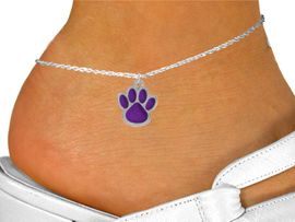<bR>                EXCLUSIVELY OURS!!<BR>          AN ALLAN ROBIN DESIGN!!<BR>CLICK HERE TO SEE 500+ EXCITING<BR>   CHANGES THAT YOU CAN MAKE!<BR>              LEAD & NICKEL FREE!!<BR>      W783SAK - LARGE PURPLE PAW<Br>    & ANKLET FROM $4.50 TO $8.35