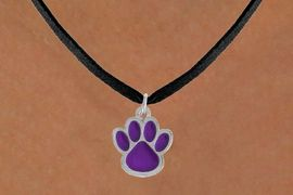 <bR>                 EXCLUSIVELY OURS!!<Br>           AN ALLAN ROBIN DESIGN!!<BR>  CLICK HERE TO SEE 500+ EXCITING<BR>     CHANGES THAT YOU CAN MAKE!<BR>                LEAD & NICKEL FREE!!<BR>       W783SN - LARGE PURPLE PAW &<BR>     NECKLACE FROM $4.50 TO $8.35