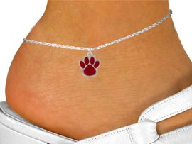 <bR>                EXCLUSIVELY OURS!!<BR>          AN ALLAN ROBIN DESIGN!!<BR>CLICK HERE TO SEE 500+ EXCITING<BR>   CHANGES THAT YOU CAN MAKE!<BR>              LEAD & NICKEL FREE!!<BR>   W785SAK - MEDIUM RED PAW<Br>   & ANKLET FROM $4.50 TO $8.35