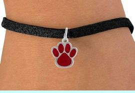 <bR>               EXCLUSIVELY OURS!!<Br>         AN ALLAN ROBIN DESIGN!!<BR>CLICK HERE TO SEE  500+ EXCITING<BR>   CHANGES THAT YOU CAN MAKE!<BR>              LEAD & NICKEL FREE!!<BR>  W785SB - MEDIUM RED PAW &<Br>   BRACELET FROM $4.50 TO $8.35