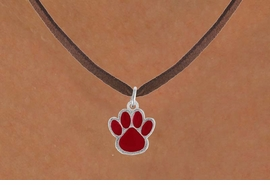 <bR>                 EXCLUSIVELY OURS!!<Br>           AN ALLAN ROBIN DESIGN!!<BR>  CLICK HERE TO SEE 500+ EXCITING<BR>     CHANGES THAT YOU CAN MAKE!<BR>                LEAD & NICKEL FREE!!<BR>    W785SN - MEDIUM RED PAW &<BR>     NECKLACE FROM $4.50 TO $8.35