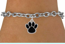 <bR>               EXCLUSIVELY OURS!!<Br>         AN ALLAN ROBIN DESIGN!!<BR>CLICK HERE TO SEE  500+ EXCITING<BR>   CHANGES THAT YOU CAN MAKE!<BR>              LEAD & NICKEL FREE!!<BR>  W786SB - MEDIUM BLACK PAW &<Br>   BRACELET FROM $4.50 TO $8.35