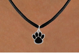 <bR>                 EXCLUSIVELY OURS!!<Br>           AN ALLAN ROBIN DESIGN!!<BR>  CLICK HERE TO SEE 500+ EXCITING<BR>     CHANGES THAT YOU CAN MAKE!<BR>                LEAD & NICKEL FREE!!<BR>    W786SN - MEDIUM BLACK PAW &<BR>     NECKLACE FROM $4.50 TO $8.35
