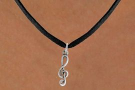 <bR>                 EXCLUSIVELY OURS!!<Br>           AN ALLAN ROBIN DESIGN!!<BR>  CLICK HERE TO SEE 500+ EXCITING<BR>     CHANGES THAT YOU CAN MAKE!<BR>                LEAD & NICKEL FREE!!<BR>W789SN - CLEF NOTE CHARM NECKLACE <BR>             FROM $4.50 TO $8.35