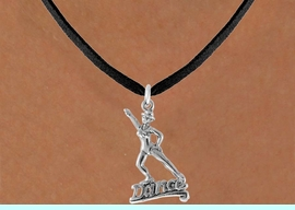 """<bR>               EXCLUSIVELY OURS!!<Br>         AN ALLAN ROBIN DESIGN!!<BR>CLICK HERE TO SEE 500+ EXCITING<BR>   CHANGES THAT YOU CAN MAKE!<BR>              LEAD & NICKEL FREE!!<BR>       W834SN - """"DANCE"""" CHARM<Br>   NECKLACE FROM $4.50 TO $8.35"""