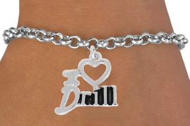 "<bR>               EXCLUSIVELY OURS!!<BR>         AN ALLAN ROBIN DESIGN!!<BR>CLICK HERE TO SEE 500+ EXCITING<BR>   CHANGES THAT YOU CAN MAKE!<BR>              LEAD & NICKEL FREE!!<BR>        W844SB - ""I LOVE DRILL""<Br>  BRACELET FROM $4.50 TO $8.35"