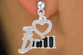 "<bR>               EXCLUSIVELY OURS!!<BR>         AN ALLAN ROBIN DESIGN!!<BR>CLICK HERE TO SEE 500+ EXCITING<BR>   CHANGES THAT YOU CAN MAKE!<BR>              LEAD & NICKEL FREE!!<BR>        W844SE - ""I LOVE DRILL""<Br>  EARRINGS FROM $4.50 TO $8.35"