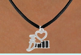 """<bR>               EXCLUSIVELY OURS!!<BR>         AN ALLAN ROBIN DESIGN!!<BR>CLICK HERE TO SEE 500+ EXCITING<BR>   CHANGES THAT YOU CAN MAKE!<BR>              LEAD & NICKEL FREE!!<BR>        W844SN - """"I LOVE DRILL""""<Br>  NECKLACE FROM $4.50 TO $8.35"""