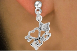 "<bR>               EXCLUSIVELY OURS!!<BR>         AN ALLAN ROBIN DESIGN!!<BR>CLICK HERE TO SEE 500+ EXCITING<BR>   CHANGES THAT YOU CAN MAKE!<BR>              LEAD & NICKEL FREE!!<BR>        W903SE - ""I LOVE FLAGS""<Br>     EARRINGS $12.68 EACH �2015"