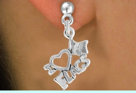 """<bR>               EXCLUSIVELY OURS!!<BR>         AN ALLAN ROBIN DESIGN!!<BR>CLICK HERE TO SEE 500+ EXCITING<BR>   CHANGES THAT YOU CAN MAKE!<BR>              LEAD & NICKEL FREE!!<BR>        W903SE - """"I LOVE FLAGS""""<Br>     EARRINGS $12.68 EACH �2015"""
