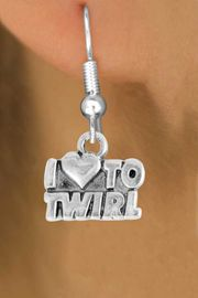 """<bR>               EXCLUSIVELY OURS!!<BR>         AN ALLAN ROBIN DESIGN!!<BR>CLICK HERE TO SEE 500+ EXCITING<BR>   CHANGES THAT YOU CAN MAKE!<BR>              LEAD & NICKEL FREE!!<BR>        W904SE - """"I LOVE TO TWIRL""""<Br>  EARRINGS FROM $4.50 TO $8.35"""