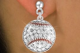 <bR>               EXCLUSIVELY OURS!!<BR>         AN ALLAN ROBIN DESIGN!!<BR>CLICK HERE TO SEE 500+ EXCITING<BR>   CHANGES THAT YOU CAN MAKE!<BR>              LEAD & NICKEL FREE!!<BR>     W907SE - AUSTRIAN CRYSTAL<Br>     BASEBALL CHARM  EARRINGS<Br>              FROM $5.65 TO $10.00