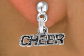 "<bR>               EXCLUSIVELY OURS!!<BR>         AN ALLAN ROBIN DESIGN!!<BR>CLICK HERE TO SEE 500+ EXCITING<BR>   CHANGES THAT YOU CAN MAKE!<BR>              LEAD & NICKEL FREE!!<BR>       W911SE - ""CHEER"" CHARM &<Br>    EARRINGS FROM $5.65 TO $10.00"