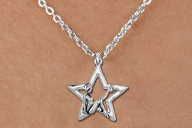 <bR>               EXCLUSIVELY OURS!!<BR>         AN ALLAN ROBIN DESIGN!!<BR>CLICK HERE TO SEE 600+ EXCITING<BR>   CHANGES THAT YOU CAN MAKE!<BR>      CADMIUM,  LEAD & NICKEL FREE!! <BR>W1310SN -  SILVER TONE GYMNAST POSED <Br>IN STAR CHARM  & CHILDS NECKLACE <BR>      FROM $4.50 TO $8.35 �2012