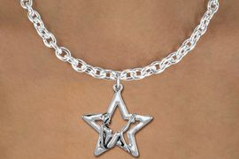 <bR>               EXCLUSIVELY OURS!!<BR>         AN ALLAN ROBIN DESIGN!!<BR>CLICK HERE TO SEE 600+ EXCITING<BR>   CHANGES THAT YOU CAN MAKE!<BR>      CADMIUM,  LEAD & NICKEL FREE!! <BR>W1310SN -  SILVER TONE GYMNAST <Br>POSED IN STAR CHARM  & NECKLACE <BR>      FROM $4.50 TO $8.35 �2012