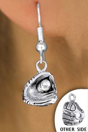 <bR>                EXCLUSIVELY OURS!!<BR>           AN ALLAN ROBIN DESIGN!!<BR>   CLICK HERE TO SEE 600+ EXCITING<BR>        CHANGES THAT YOU CAN MAKE!<BR>     CADMIUM, LEAD & NICKEL FREE!!<BR> W1406SE - DETAILED SILVER TONE <Br>BASEBALL / SOFTBALL MITT CHARM <BR>EARRINGS FROM $4.50 TO $8.35 �2013