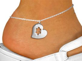 <bR>                 EXCLUSIVELY OURS!!<BR>           AN ALLAN ROBIN DESIGN!!<BR>  CLICK HERE TO SEE 600+ EXCITING<BR>     CHANGES THAT YOU CAN MAKE!<BR> CADMIUM, LEAD & NICKEL FREE!! <BR>W295SAK - POLISHED SILVER TONE HEART <BR>       AUTUSM PUZZLE CHARM  & ANKLET <BR>         FROM $3.35 TO $8.00 �2012
