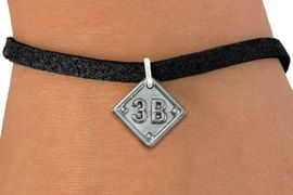 """<bR>                   EXCLUSIVELY OURS!!<BR>             AN ALLAN ROBIN DESIGN!!<BR>    CLICK HERE TO SEE 600+ EXCITING<BR>       CHANGES THAT YOU CAN MAKE!<BR>      LEAD, NICKEL & CADMIUM FREE!! <BR>PLAYERS POSITION AND TEAM NUMBER  <BR>   W1254SB -  """"BASEBALL DIAMOND"""" <Br>       SILVER TONE CHARM & BRACELET <BR>          FROM $3.60 TO $8.00 �2012"""