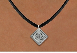 """<bR>                   SOFTBALL DIAMOND NECKLACE - ADJUSTABLE<BR>        <BR>   <BR>      LEAD, NICKEL & CADMIUM FREE!! <BR>PLAYERS POSITION AND TEAM NUMBER  <BR>   W1255N3 -  """"SOFTBALL DIAMOND"""" <Br>       SILVER TONE CHARM & NECKLACE <BR>          $9.68 EACH �2012"""