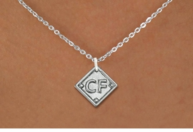 """<bR>                  SOFTBALL DIAMOND NECKLACE - ADJUSTABLE<BR>             <BR>   <BR>      LEAD, NICKEL & CADMIUM FREE <BR>PLAYERS POSITION AND TEAM NUMBER  <BR>   W1255N1 -  """"SOFTBALL DIAMOND"""" <Br>       SILVER TONE CHARM & NECKLACE <BR>         $9.68 EACH �2012"""