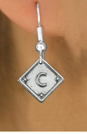 "<bR>                   EXCLUSIVELY OURS!!<BR>             AN ALLAN ROBIN DESIGN!!<BR>    CLICK HERE TO SEE 600+ EXCITING<BR>       CHANGES THAT YOU CAN MAKE!<BR>      LEAD, NICKEL & CADMIUM FREE!! <BR>    PLAYERS POSITION ON CHARM!!!  <BR>   W1254SE -  ""BASEBALL DIAMOND"" <Br>         SILVER TONE CHARM EARRINGS <BR>          FROM $3.60 TO $8.00 �2012"