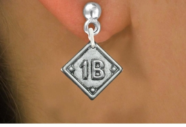 "<bR>                   EXCLUSIVELY OURS!!<BR>             AN ALLAN ROBIN DESIGN!!<BR>    CLICK HERE TO SEE 600+ EXCITING<BR>       CHANGES THAT YOU CAN MAKE!<BR>      LEAD, NICKEL & CADMIUM FREE!! <BR>    PLAYERS POSITION ON CHARM!!!  <BR>   W1255SE -  ""SOFTBALL DIAMOND"" <Br>         SILVER TONE CHARM EARRINGS <BR>          FROM $3.60 TO $8.00 �2012"
