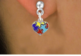 <bR>                   EXCLUSIVELY OURS!!<BR>             AN ALLAN ROBIN DESIGN!!<BR>    CLICK HERE TO SEE 600+ EXCITING<BR>       CHANGES THAT YOU CAN MAKE!<BR>      LEAD, NICKEL & CADMIUM FREE!!<BR>W1090SE - MINI AUTISM AWARENESS<BR>     PUZZLE HEART CHARM EARRINGS<Br>           FROM $4.50 TO $8.35 �2011
