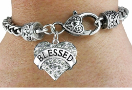 "<bR>                      EXCLUSIVELY OURS!!<BR>               AN ALLAN ROBIN DESIGN!!<BR>       CLICK HERE TO SEE 600+ EXCITING<BR>          CHANGES THAT YOU CAN MAKE!<BR>           LEAD, NICKEL & CADMIUM FREE!!<BR>  W1211SB - SMOKY CRYSTAL ""BLESSED"" <BR>HEART CHARM  & HEART CLASP BRACELET <BR>        FROM $5.63 TO $12.50 �2012"