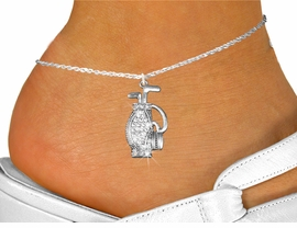 <bR>                 EXCLUSIVELY OURS!!<BR>           AN ALLAN ROBIN DESIGN!!<BR>  CLICK HERE TO SEE 600+ EXCITING<BR>     CHANGES THAT YOU CAN MAKE!<BR>LEAD, NICKEL & CADMIUM FREE!!<BR>W1216SAK - CRYSTAL GOLF BAG CHARM<Br>& ANKLET FROM $5.40 TO $9.85 �2012