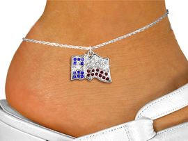 <bR>                 EXCLUSIVELY OURS!!<BR>           AN ALLAN ROBIN DESIGN!!<BR>  CLICK HERE TO SEE 600+ EXCITING<BR>     CHANGES THAT YOU CAN MAKE!<BR>LEAD, NICKEL & CADMIUM FREE!!<BR>W1302SAK - TEXAS STATE FLAG <BR>      CRYSTAL CHARM AND ANKLET <Br>      FROM $5.40 TO $9.85 �2012