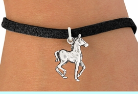 """<bR>               EXCLUSIVELY OURS!!<BR>         AN ALLAN ROBIN DESIGN!!<BR>CLICK HERE TO SEE 600+ EXCITING<BR>   CHANGES THAT YOU CAN MAKE!<BR>              LEAD & NICKEL FREE!!<BR>     W1002SB - """"TROTTING HORSE"""" <Br>   & BRACELET FROM $4.15 TO $8.00"""