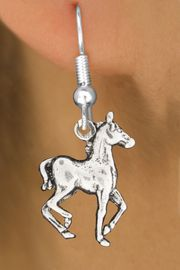 """<bR>               EXCLUSIVELY OURS!!<BR>         AN ALLAN ROBIN DESIGN!!<BR>CLICK HERE TO SEE 600+ EXCITING<BR>   CHANGES THAT YOU CAN MAKE!<BR>              LEAD & NICKEL FREE!!<BR>     W1002SE - """"TROTTING HORSE""""<Br>  EARRINGS FROM $4.50 TO $8.35"""