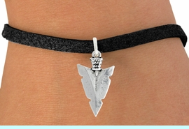 """<bR>               EXCLUSIVELY OURS!!<BR>         AN ALLAN ROBIN DESIGN!!<BR>CLICK HERE TO SEE 600+ EXCITING<BR>   CHANGES THAT YOU CAN MAKE!<BR>              LEAD & NICKEL FREE!!<BR>         W1003SB - """"ARROWHEAD"""" <Br>   & BRACELET FROM $4.15 TO $8.00"""